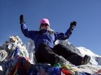Himalaya. Kala Pattar 5500moh i soloppgang